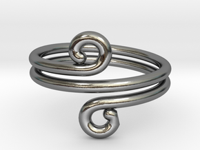 Swirl Design Ring in Polished Silver