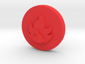 Fire Element in Red Processed Versatile Plastic