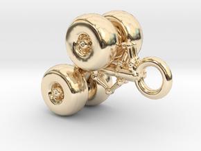 Flugzeugfahrwerk Schlüsselanhänger in 14K Yellow Gold