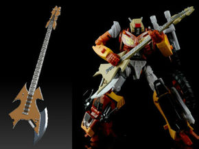 Metal Head guitar Ver  1 in Frosted Ultra Detail