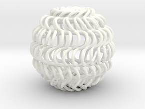 Spiral Cage in White Strong & Flexible Polished