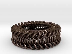 Knot Wheel in Polished Bronze Steel