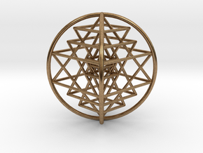 "3D Sri Yantra 4 Sided Optimal 3"" in Natural Brass"