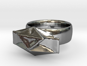 Puzzle Ring in Fine Detail Polished Silver