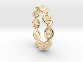 Female DNA Ring From The Male Female Matching Set in 14K Yellow Gold