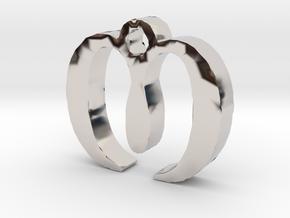 M Necklace in Platinum