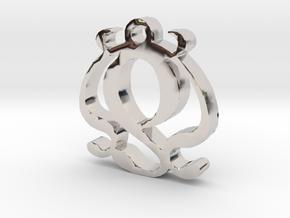 Two Necklace Pendant  in Platinum