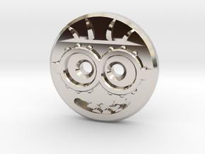 Minion Shirt Button in Platinum