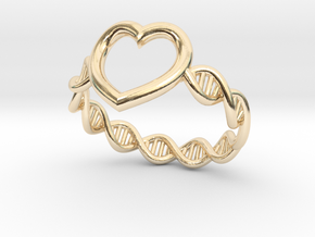 Heart DNA Ring in 14K Yellow Gold