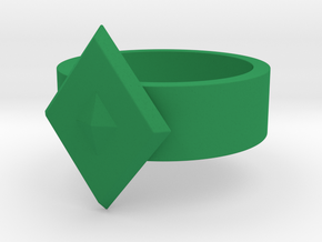 Guardian Ring 1976 GL (Sz 12 shown) in Green Processed Versatile Plastic