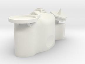 Medium Asteriod Base #1 in White Natural Versatile Plastic
