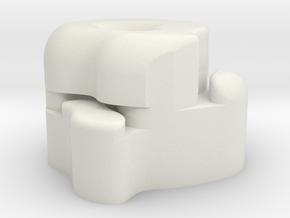 Large Asteriod in White Natural Versatile Plastic