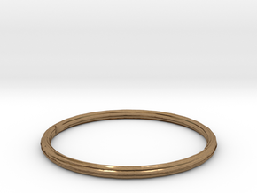 bangle in Natural Brass