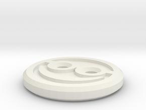 Happy Nerd Shirt Button in White Natural Versatile Plastic