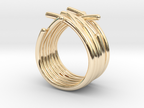 Actiniaria S55 25082014 in 14K Yellow Gold