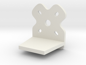 TinyWing Horizontal Motor Mount in White Natural Versatile Plastic