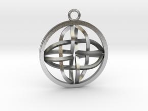 Celtic Cross Pendant in Natural Silver
