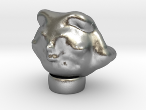 Egyptian Cat Head Made On Sculptris in Natural Silver