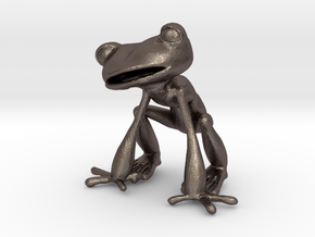 Frog in Polished Bronzed Silver Steel