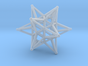 Dodeca Star Wire - 4cm in Smooth Fine Detail Plastic