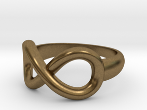 Infinity Ring-Size 7 in Natural Bronze