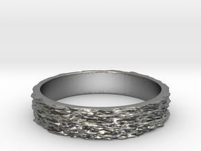 Hyperloop Ring Size 7 in Raw Silver