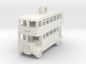 Double Decker Bus in White Strong & Flexible