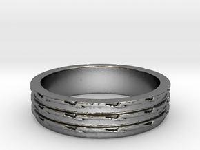 Greater Than Three Ring Size 7 in Polished Silver