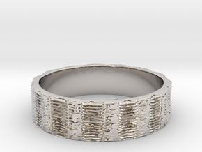 Fractal Time Ring Size 7 in Platinum