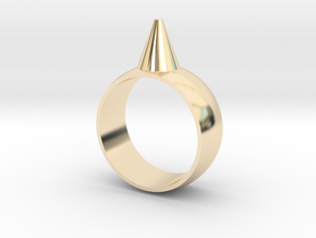 223-Designs Bullet Button Ring Size 6.5 in 14K Yellow Gold