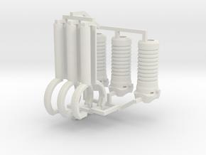 1:6 scale M203 Vertical Grip Set in White Natural Versatile Plastic