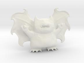Cute Demon Full 8cm in White Natural Versatile Plastic