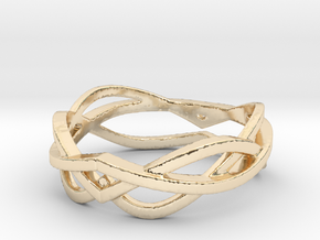 Curves 8 Ring Size 8 in 14K Yellow Gold