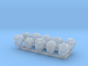 28mm Mutant Heads X10 in Smooth Fine Detail Plastic