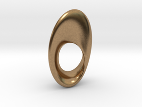 Mobius Oval 16x23mm in Natural Brass