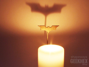Batman 2008 - Spotlight Candle Attachment in Polished Bronzed Silver Steel