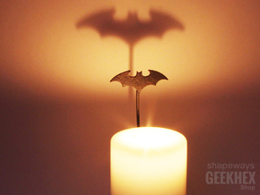 Batman 2003 - Spotlight Candle Attachment in Matte Black Steel