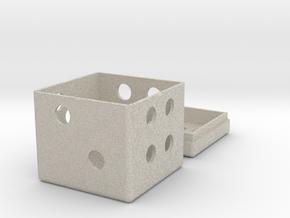 Dice Box in Natural Sandstone