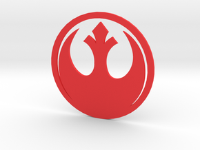 Mk4 Volkswagen Golf Rebel Alliance Rear Emblem in Red Processed Versatile Plastic