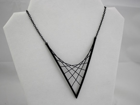 Parabolic Suspension Statement Necklace in Black Natural Versatile Plastic