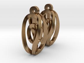 Miniature Aerial Earrings in Natural Brass