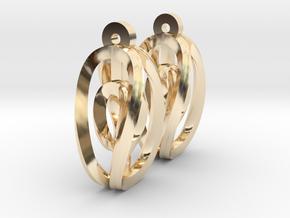 Miniature Aerial Earrings in 14K Yellow Gold