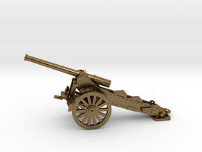 1/100, 1877 de Bange cannon, 155mm in Natural Bronze