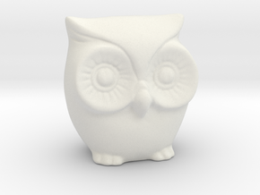 Little tiny owl in White Natural Versatile Plastic