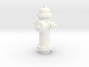 Fire Hydrant in White Strong & Flexible Polished