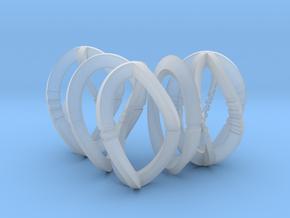 Modern Art Dice Set (D1, D2, D3, D4, D6) in Smooth Fine Detail Plastic