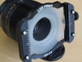 Filter Adapter for Fujinon 60mm lens in Smooth Fine Detail Plastic