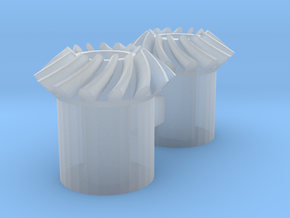 Bevel Gears in Smooth Fine Detail Plastic