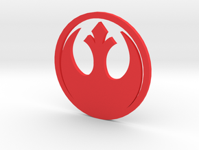 MK3 Volkswagen Golf Rebel Alliance Rear Emblem in Red Processed Versatile Plastic