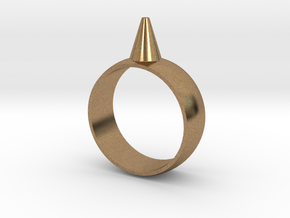 223-Designs Bullet Button Ring Size 8.5 in Natural Brass